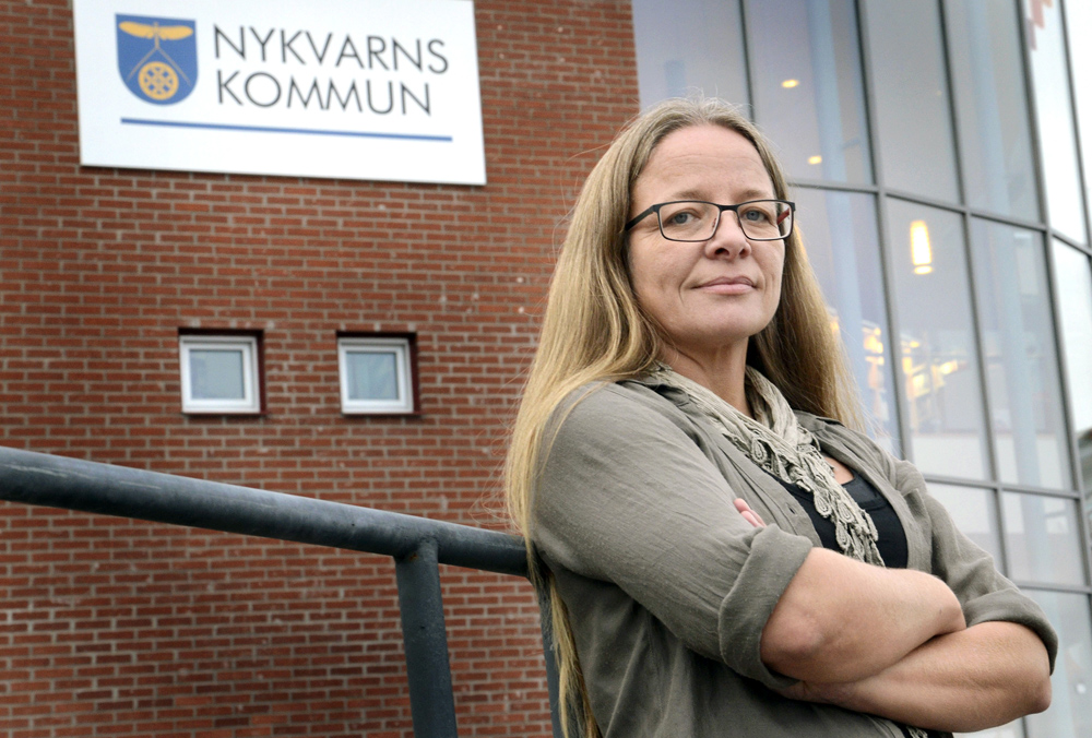 Mahria Persson Lövkvist, chef för vård och omsorg i Nykvarn. Foto: Olof Näslund