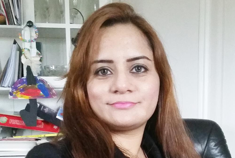 Samina Nadeem, socionom i värmländska Munkfors.