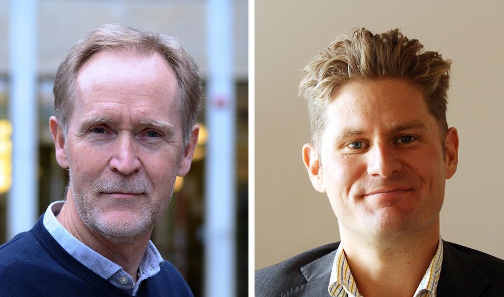 Dick Lindberg, projektledare inom digitalisering på Socialstyrelsen och Kalle Pettersson, kvalitets- och utvecklingschef på socialförvaltningen i Helsingborgs stad.