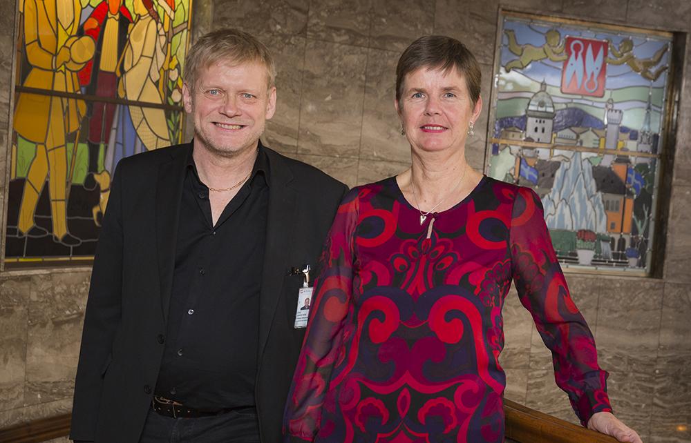 Dag Forsström och Anna-Lena Sellergren hos Borås stad. Foto: Ulf Ekström