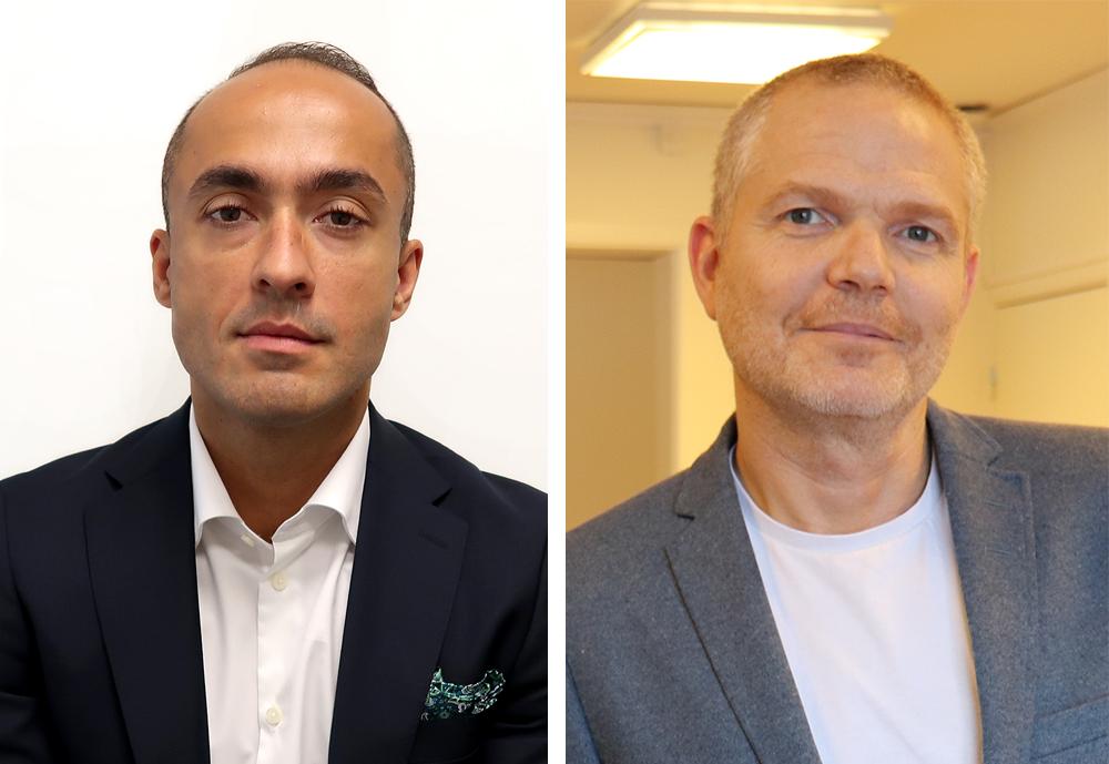 Armin Fejzic, ansvarig för Dedicare Socionom och Mikael Håkansson, socionom och delägare i Kronan konsult.