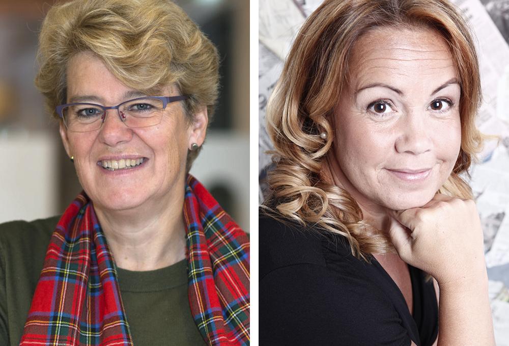 Ulrika Stuart Hamilton, generalsekreterare på Famna (Foto: Lena Dahlström) och Therese Linerhav, affärsområdeschef på Linköpings Stadsmission (Foto: Linköpings Stadsmission).