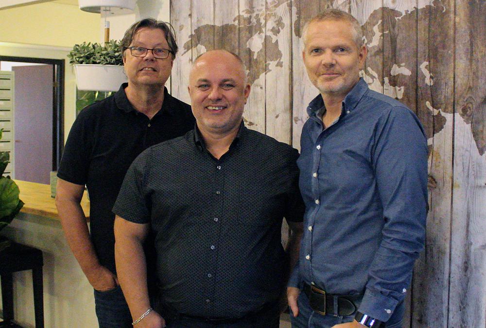 Hans Eklund, Zoran Tomic och Mikael Håkansson.