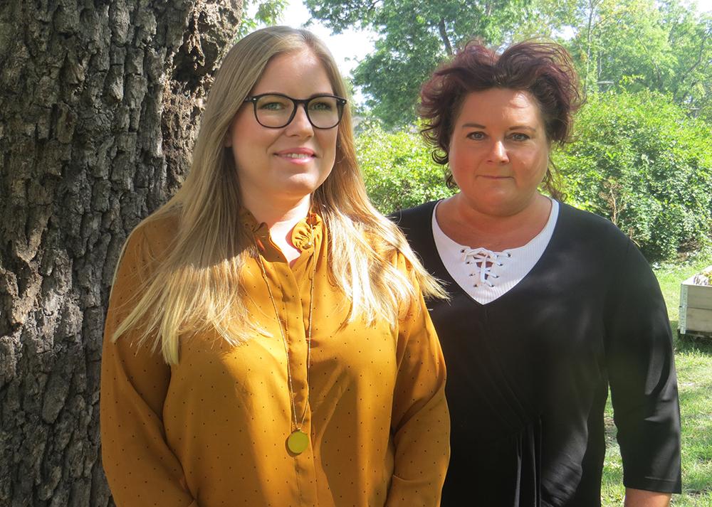Jessica Lindström, marknadsansvarig för Socionomdagarna på Insight Events och Marica Rostedt, ombudsman på Akademikerförbundet SSR.