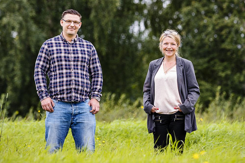 Daniel Risnert, socialpedagog och Ulrika Jonsson, socionom. Foto: Mats Engfors/Fotographic