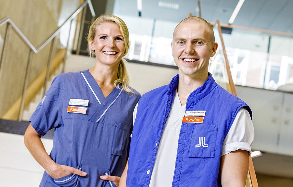 Elin Scandurra och Martin Pettersson, kuratorer på Karolinska Universitetssjukhuset. Foto: Gonzalo Irigoyen