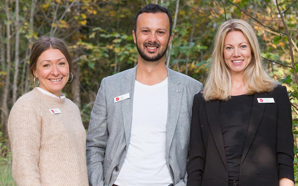 Elinor Sjölin, utrednings och behandlingsansvarig, Deni Molin, verksamhetschef och Therese Klarström, biträdande verksamhetschef på FAM-huset.
